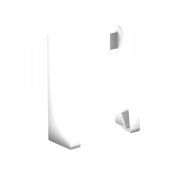 Endkappen für Sockelleiste 809 Weiß