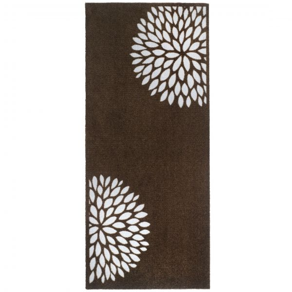 Fußmatte Home & Kitchen Universal Flower Taupe 150 x 67cm Indoor