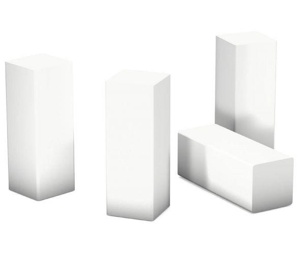 Eckstäbchen für Sockelleisten Weiß