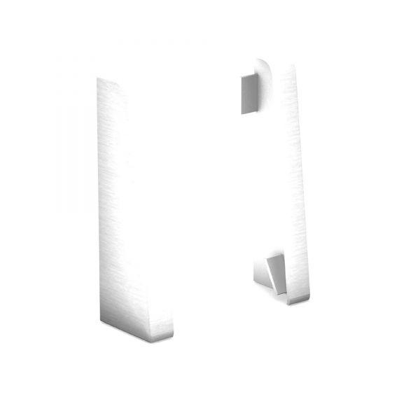 Endkappen für Sockelleiste 809 Alu Gebürstet