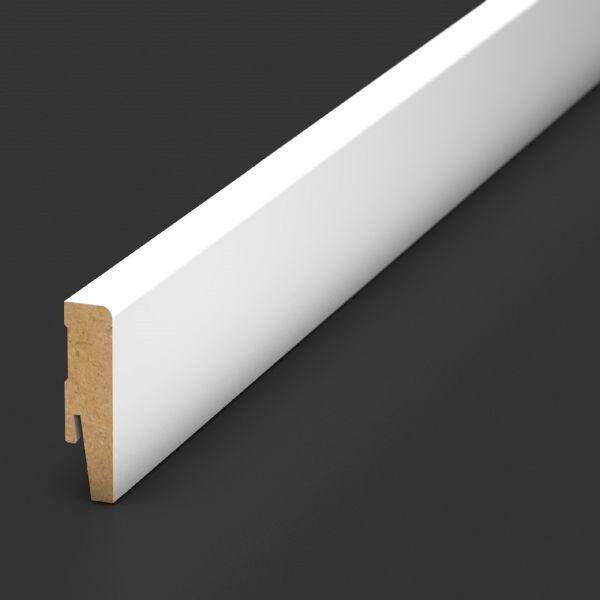 Sockelleiste 828 Weiß 250 MDF