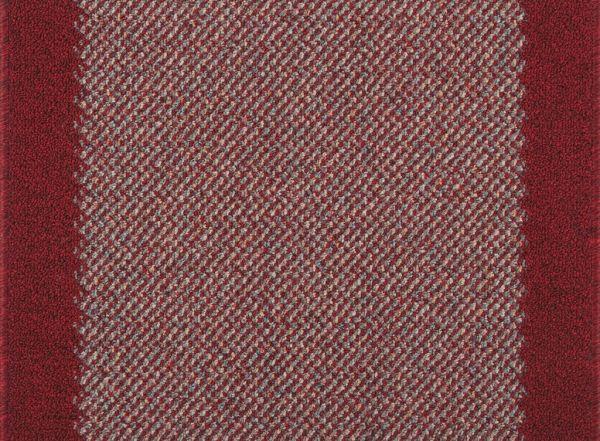 Läufer Porto Rot inkl. gekettelter Schnittkanten versch. Breiten